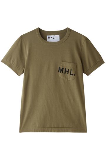 MARGARET HOWELL マーガレット・ハウエル 【MHL.】プリントTシャツ ベージュ