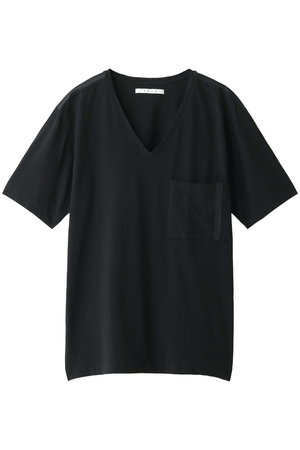 【MEN】SEAM TAPE COMPACT YARM V NECK/Vネックカットソー クロ/KURO